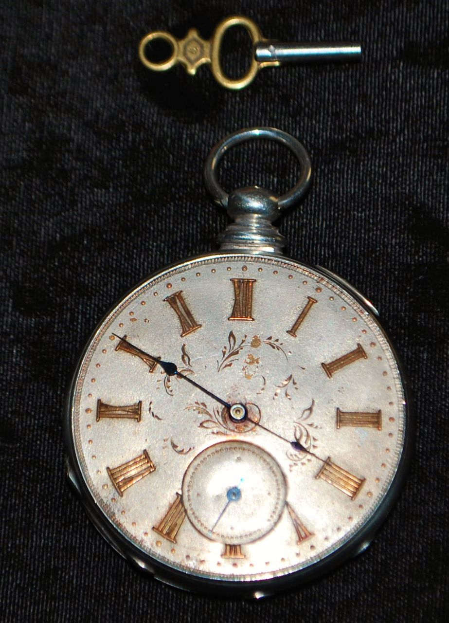Swiss Of Silver And Gold Pocket Watch 1860 S Antique