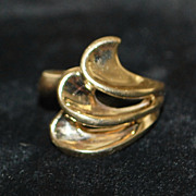 14KP Modernist Gold Ring