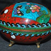 Japanese Meiji Cloisonne Egg Box, 1890