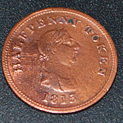 English Half Penny Trade Token, c. 1815