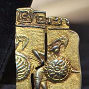 Italian Classical Gild 800 Silver Brooch, 1920's