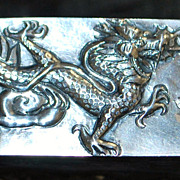 Chinese Sterling Silver Dragon Box, c. 1900