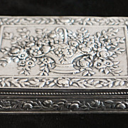 Italian 800 Silver Flli Coppini Fancy Box, 1920's