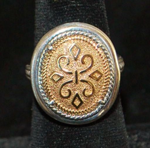 14k and Sterling Silver Designer Ring