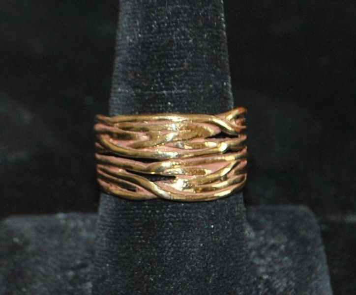 14K Custom Made Man's Gold Ring