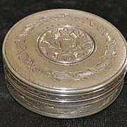 French Engraved Silver Box, c. 1835