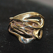 14K Custom Made Gold Branch Style Ring