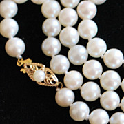 "14K 22"" Matinee 7mm Cultured Pearl Necklace"