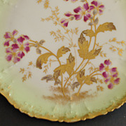 French Ch Field Haviland Hp Porcelain Plate, c. 1880