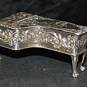 "English Sterling ""Grand Piano"" Table  Box - 1964"
