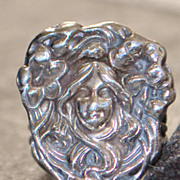 Art Nouveau Sterling Silver Figural Ring, c. 1910