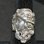 Art Nouveau Sterling Silver Figural Ring