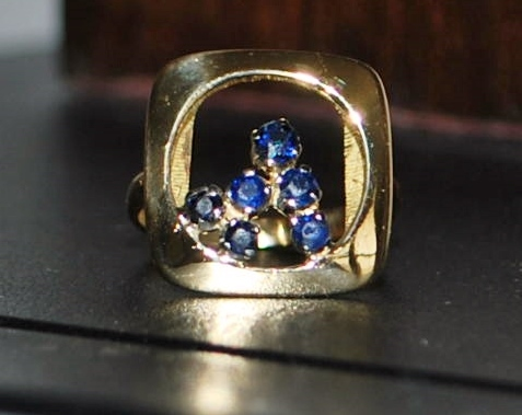18K Italian  Sapphire Ring - 1970's