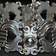 Early Taxco  980 Silver Bracelet - 1940's
