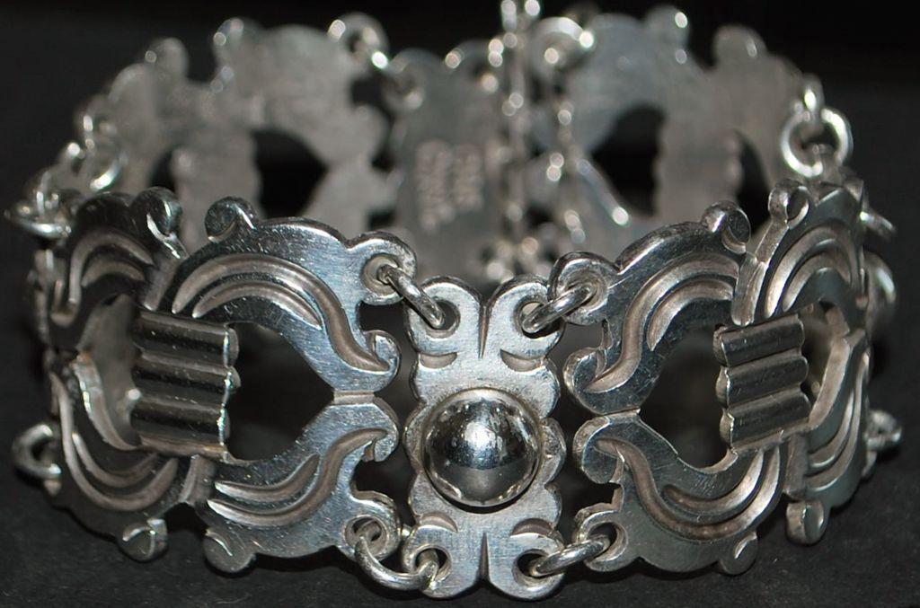 Early Taxco  980 Silver Bracelet - 1940's