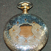 American Waltham Sterling and Gold Pocket Watch, c. 1891