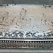 French Niello 950 Silver Snuff Box, c. 1850