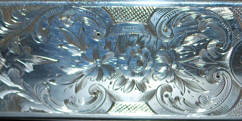 English Victorian Sterling Silver  and Cut Glass Box, .1855