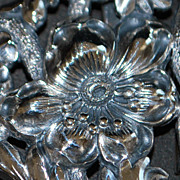 Art Nouveau Sterling Silver Belt Buckle, c. 1900