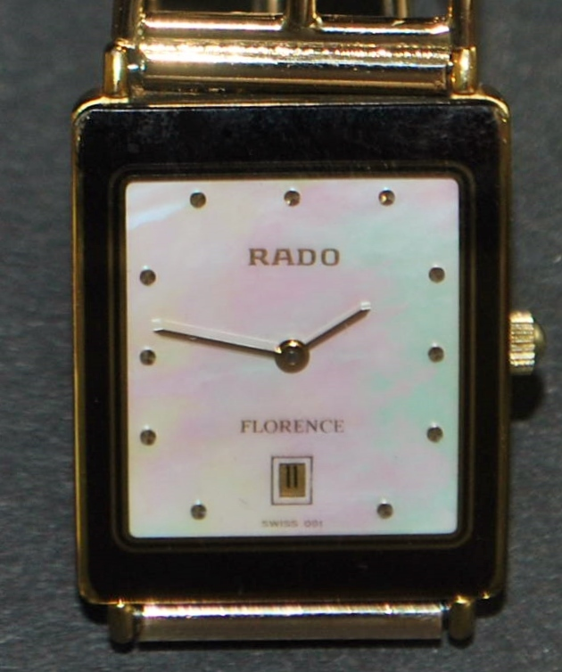 "18K Man's Rado ""Florence"" Swiss Wrist Watch -1980"