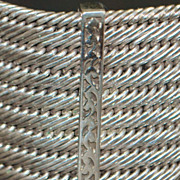 Heavy Large Lois Hill Sterling Silver Woven Bracelet
