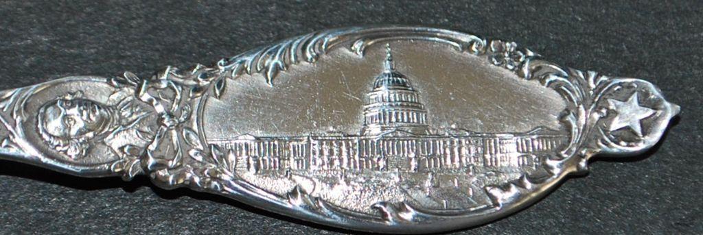 Sterling Americana Souvenir Spoon of D.C,, c. 1900