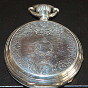 Swiss Silver Hunting Case Pocket Watch - 1880's