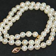 14k 6.5mm Cultured Pearl Necklace