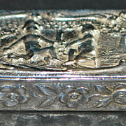 German Fancy 800 Silver Snuff Box - 1900
