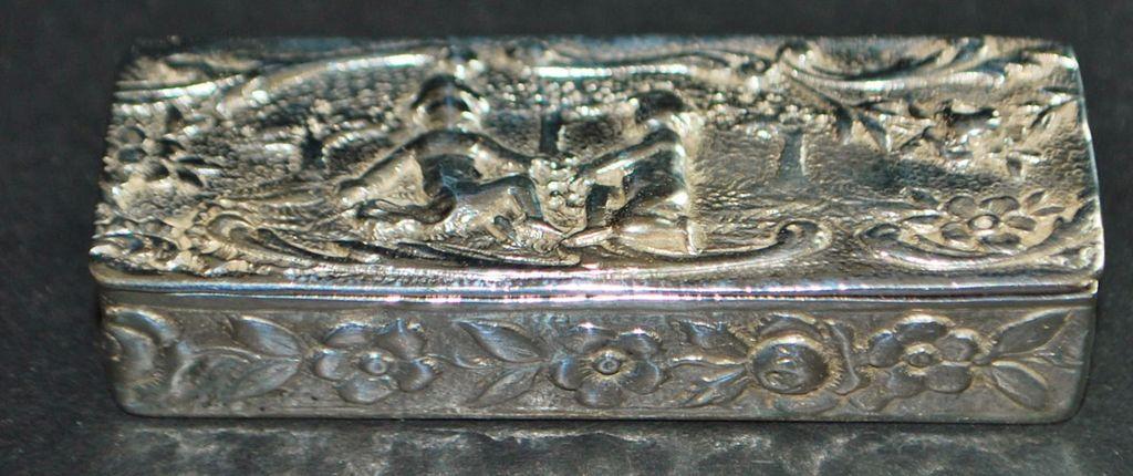 German Fancy 800 Silver Snuff Box - 1900