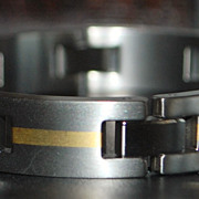 18K/ Titanium Man's Link Bracelet, c. 1990