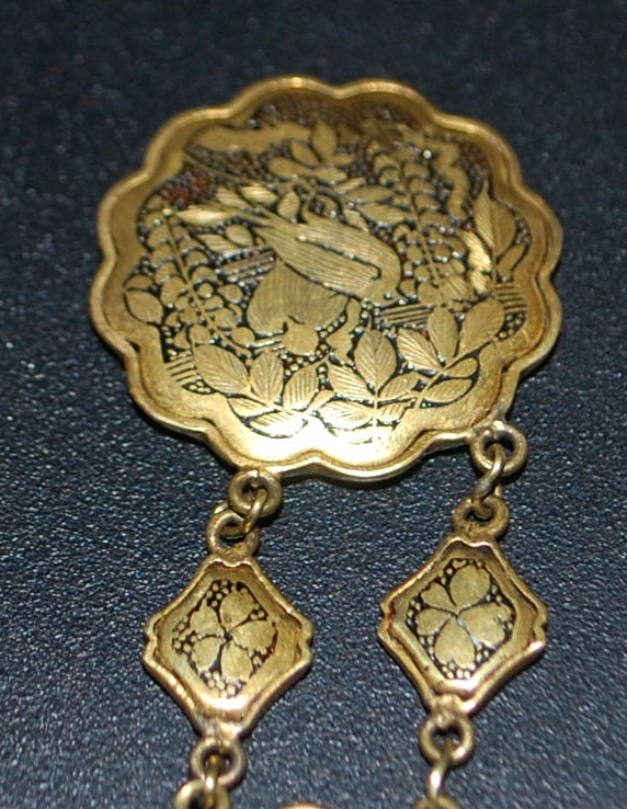 Japanese  Fancy Damascene  Watch Fob