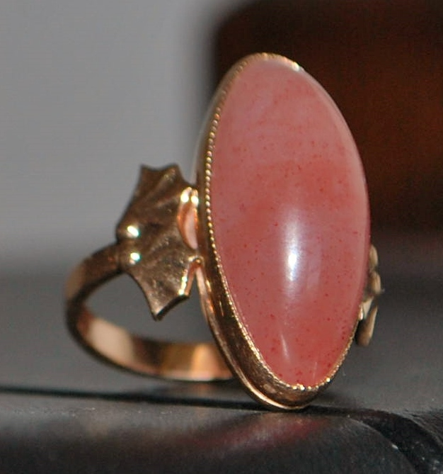 14K Russian Pink Tourmaline Ring - 1980's