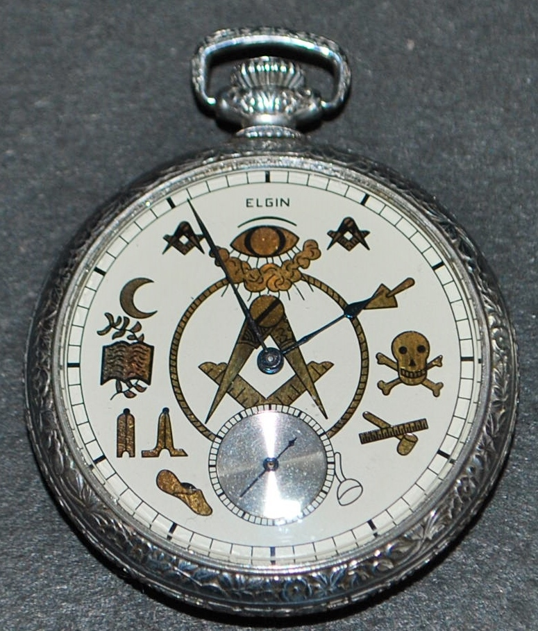 elgin masonic of pocket 1918 sold on ruby