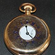 J. W. Benson London Half Hunter Pocket Watch,1920's