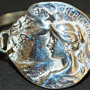 "Sterling ""Maiden"" Medallion Disc Bracelet"