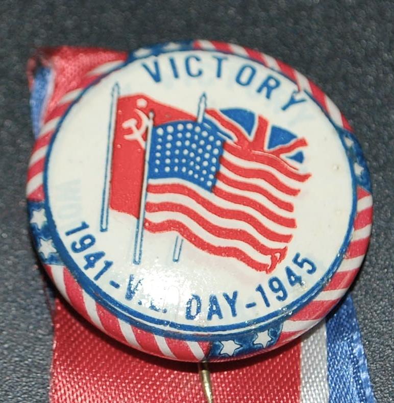 V.E. Day Victory Button World War II - 1945 from antiqueworldusa ...