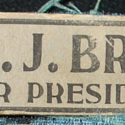 Wm Jennings Bryan for President Button - 1896