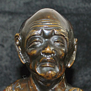 Pair of Japanese Meiji Figural Bronze Bookends -1885