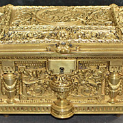 French Bronze Fancy Jewelry Box, c. 1875