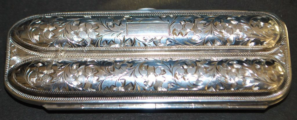 Fancy Sterling Silver (950) Cigar Case - 1950's