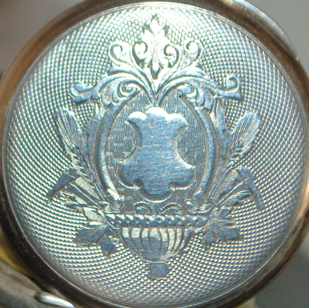 Swiss 800 Silver OF Pocket Watch, c. 1890