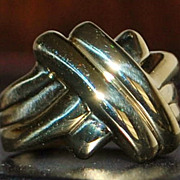 14K Gold Love Knot Ring - 1980's