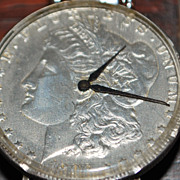 Swank Morgan Silver Dollar Wrist Watch - 1970's