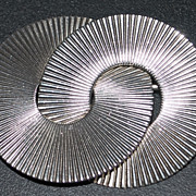 Stieff Sterling Silver Retro Circle Brooch -1940's
