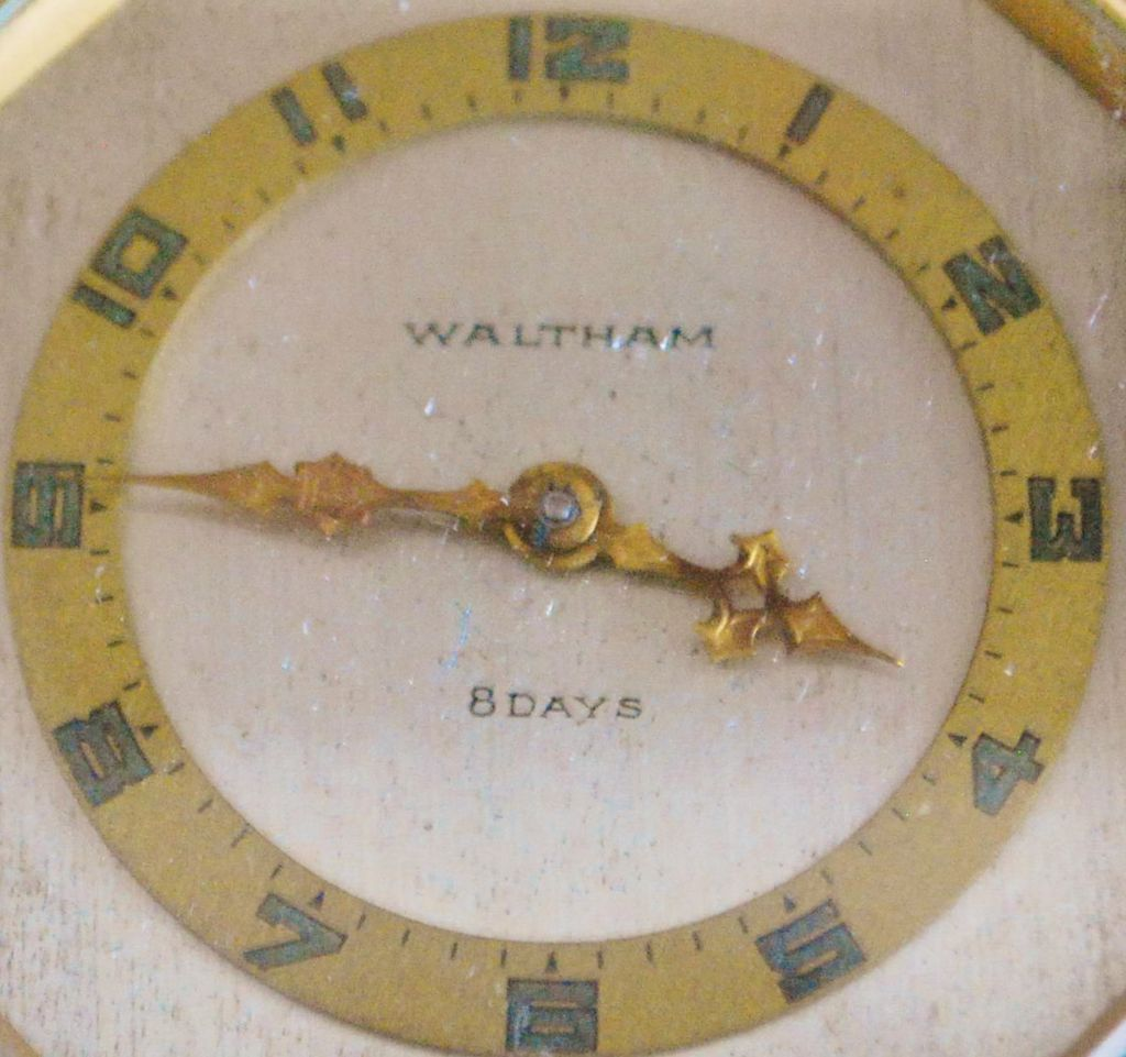 Fancy Waltham Bronze Car Clock - 1930