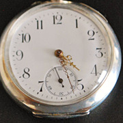 Swiss 800 Silver OF Pocket Watch, c. 1900