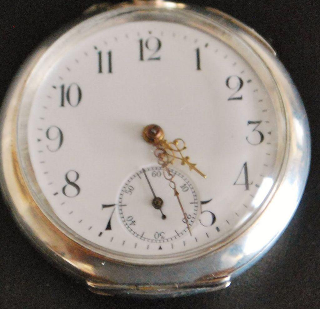 Swiss 800 Silver OF Pocket Watch, c. 1900