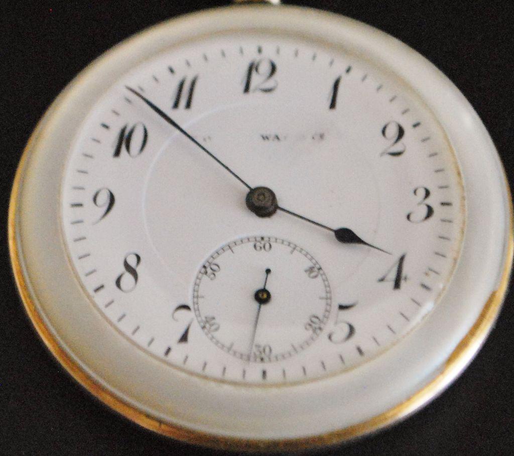 Swiss Tavannes Mother-of-Pearl Pocket Watch - 1910