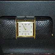 German Rensie Leather Purse Watch - 1960
